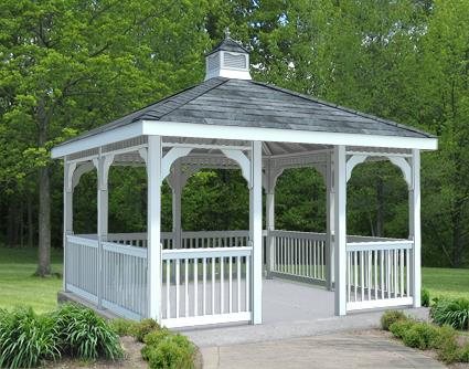 Gazebo Creations 12' x 12' Vinyl Rectangular Gazebo at Sears.com