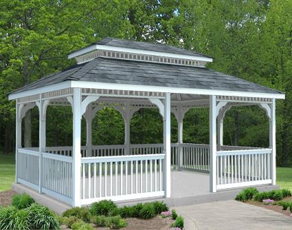 Gazebo Creations 10' x 16' Vinyl Rectangular Double Roof Gazebo at Sears.com