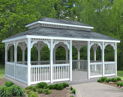 Gazebo Creations 12' x 18' Vinyl Rectangular Double Roof Gazebo at Sears.com