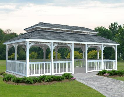 Gazebo Creations 12' x 20' Vinyl Rectangular Double Roof Gazebo at Sears.com
