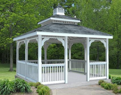 Gazebo Creations 10' x 10' Vinyl Rectangular Double Roof Gazebo at Sears.com