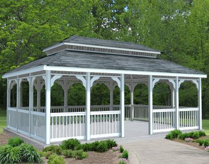 Gazebo Creations 14' x 20' Vinyl Rectangular Double Roof Gazebo at Sears.com