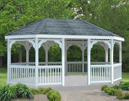 Gazebo Creations 12' x 18' Vinyl Oval Gazebo at Sears.com