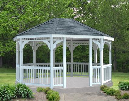 Gazebo Creations 12' x 14' Vinyl Oval Gazebo at Sears.com