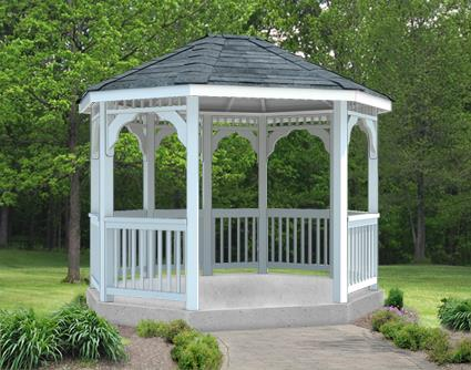 Gazebo Creations 8' x 10' Vinyl Oval Gazebo at Sears.com