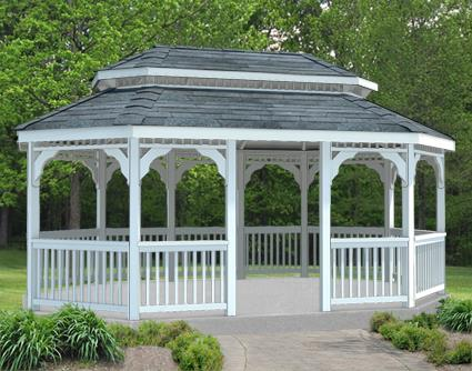 Gazebo Creations 12' x 16' Vinyl Oval Double Roof Gazebo at Sears.com