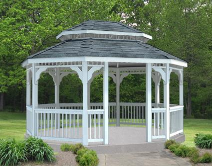 Gazebo Creations 12' x 14' Vinyl Oval Double Roof Gazebo at Sears.com
