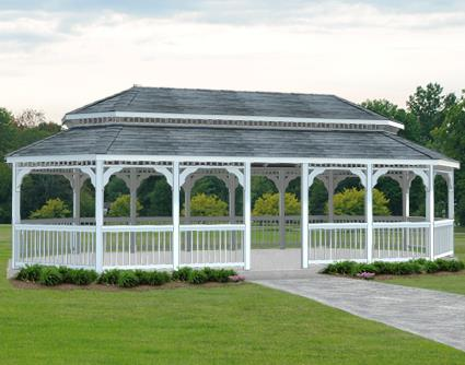 Gazebo Creations 14' x 32' Vinyl Oval Double Roof Gazebo at Sears.com