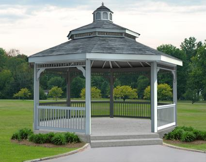 Gazebo Creations 20' Vinyl Octagon Double Roof Gazebo at Sears.com