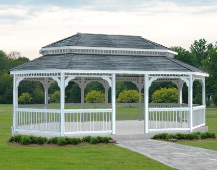 Gazebo Creations 16' x 24' Vinyl Oval Double Roof Gazebo at Sears.com