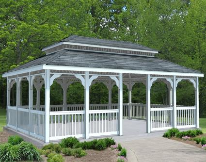 Gazebo Creations 16' x 24' Vinyl Rectangular Double Roof Gazebo at Sears.com