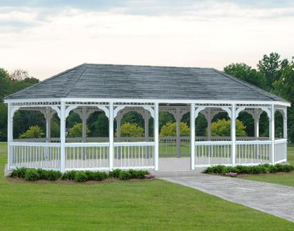 Gazebo Creations 14' x 30' Vinyl Oval Gazebo at Sears.com
