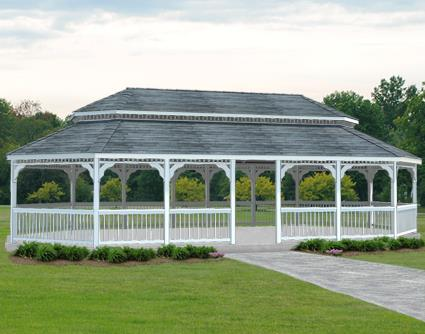 Gazebo Creations 18' x 36' Vinyl Oval Double Roof Gazebo at Sears.com