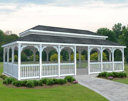 Gazebo Creations 16' x 30' Vinyl Rectangular Double Roof Gazebo at Sears.com