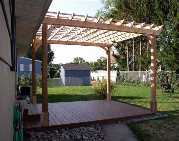 Customer 39 s photo 12 39 x 14 39 custom 2 beam cedar pergola for 12 x 13 room