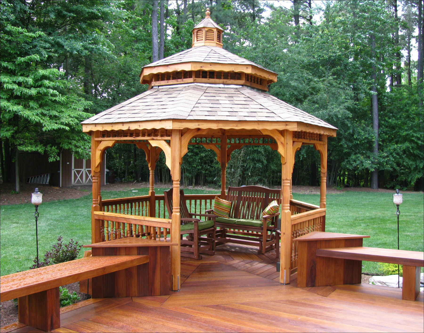 Customer S Photo 14 Double Roof Cedar Octagon Gazebo
