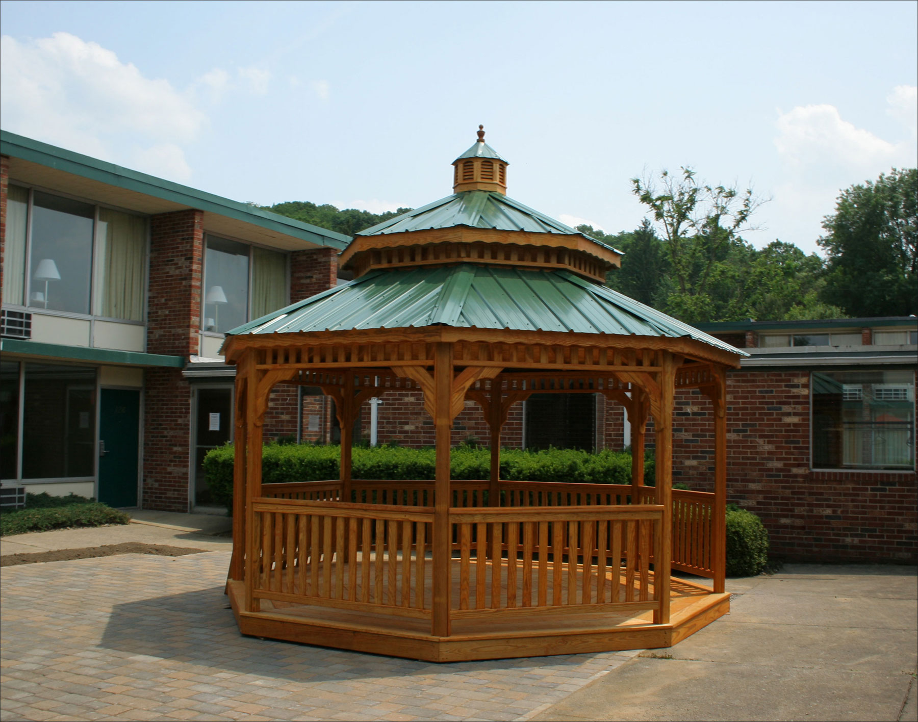 Customer S Photo 14 Treated Pine Octagon Double Roof Gazebo