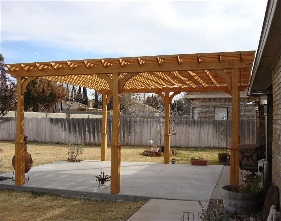 Customers Photo 16 X 20 Treated Pine 2 Beam Pergola