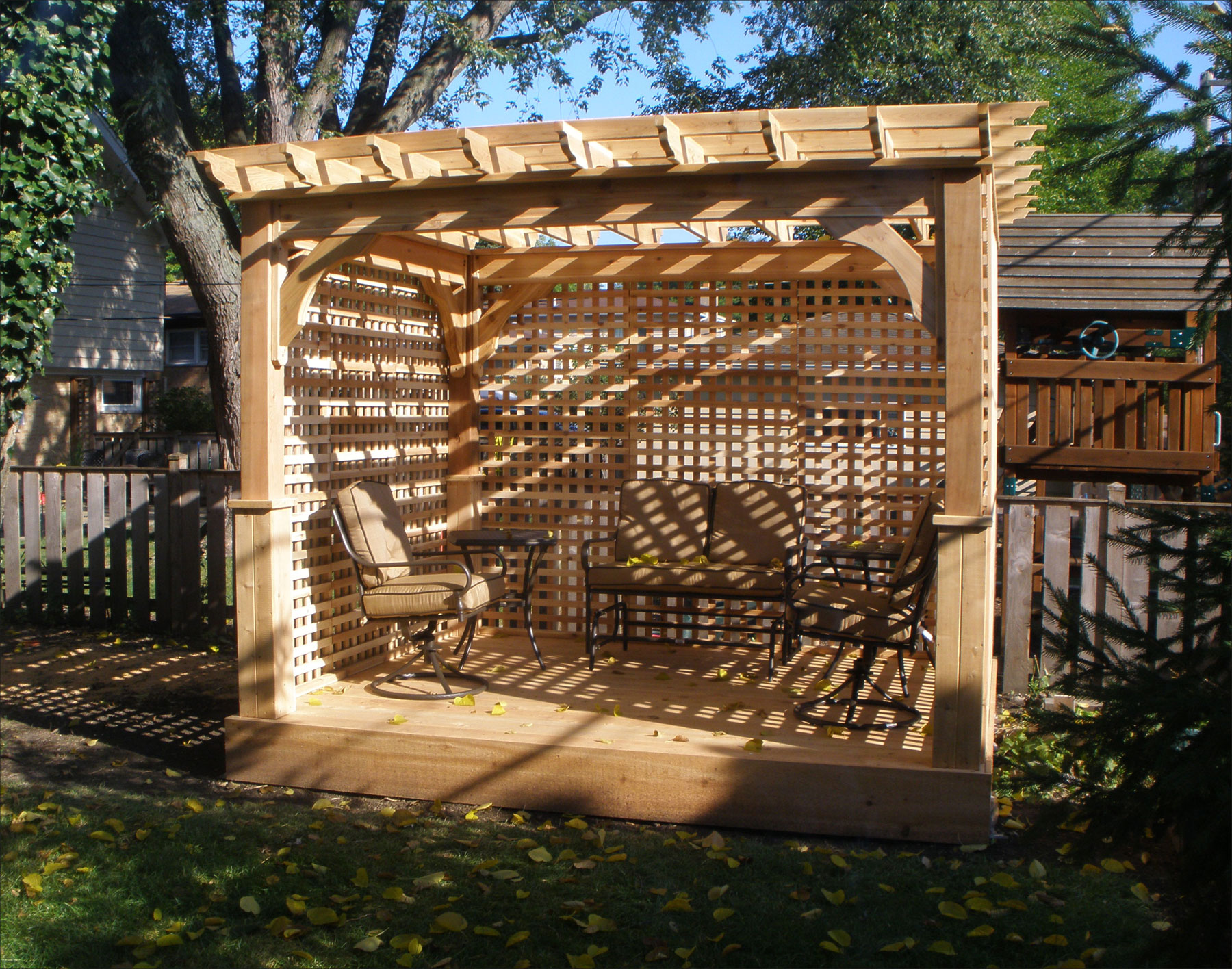 Customer S Photo 8 X 10 Cedar Deluxe 4 Beam Pergola