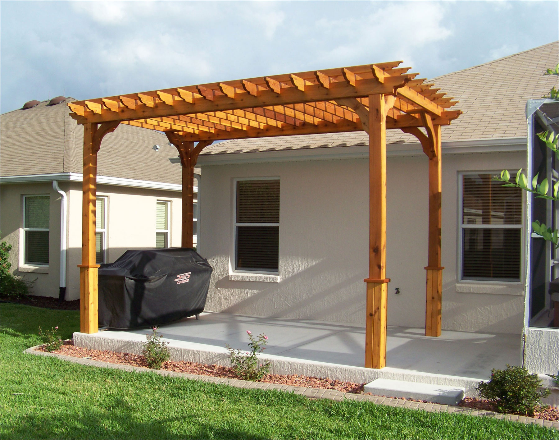 Customer S Photo 8 X 16 Custom Cedar Pergola