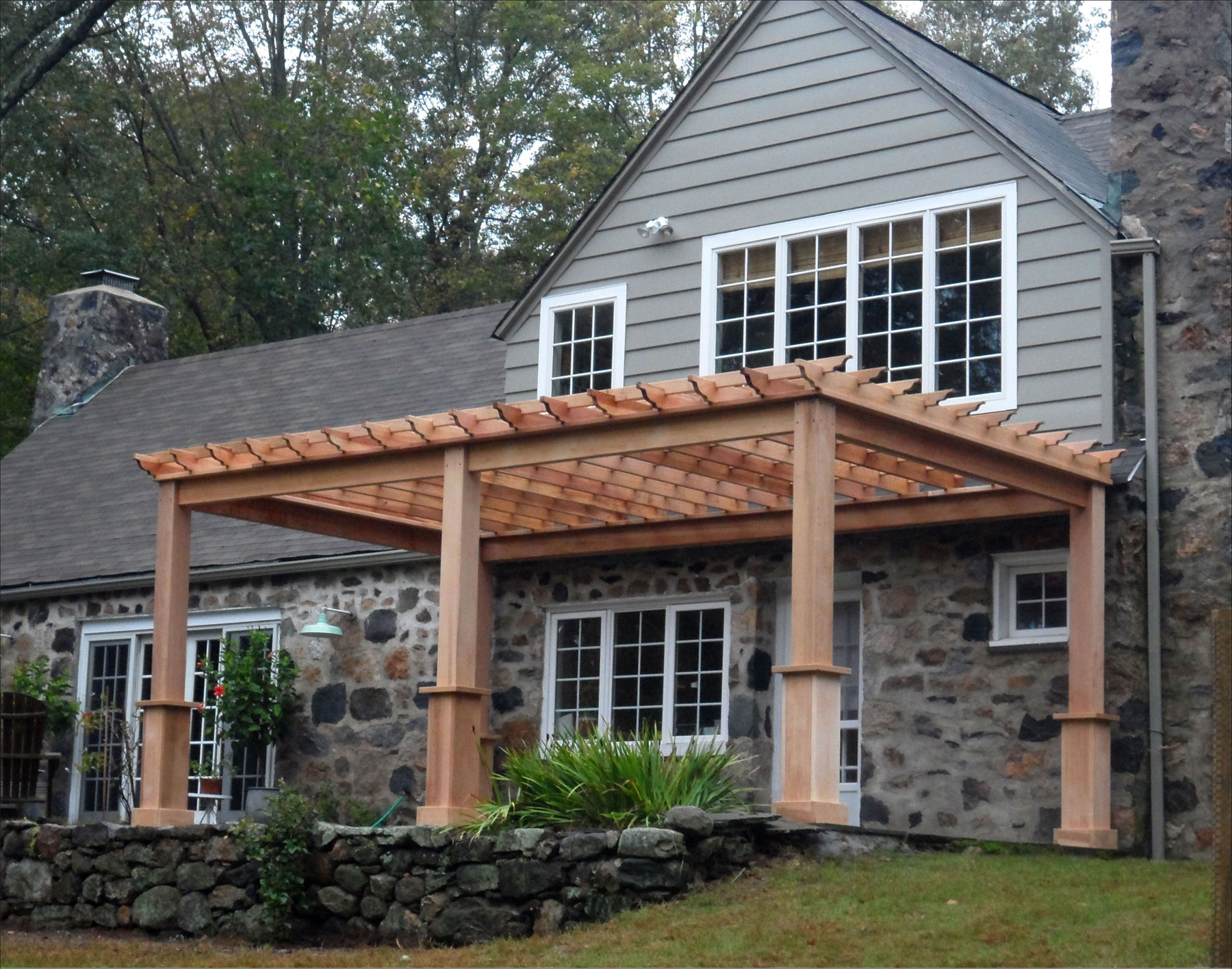 Customer S Photo Custom 12 X 20 Cedar Deluxe 4 Beam