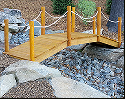 Treated Pine Rope Rail Bridge w/White Cedar Posts