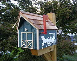 horse n buggy mailbox - Decorative Mailboxes
