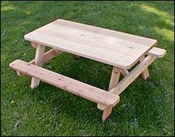 red cedar kidu0027s picnic table
