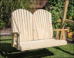 treated pine curveback porch swing