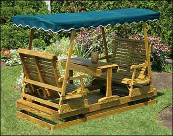 Canopy Glider Swing (Plan No. 818) - Outdoor Plans, Projects and