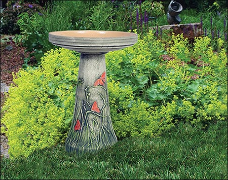 Ceramic Butterfly Meadow Bird Bath