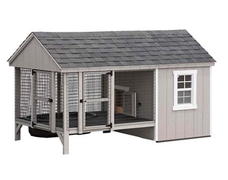 6 x 10 Dura-Temp Duck House with Small Pond