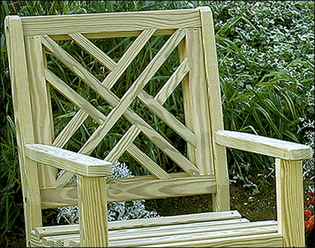 Treated Pine Chippendale Patio Chair
