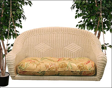 Wicker Sands Porch Swing W Cushion