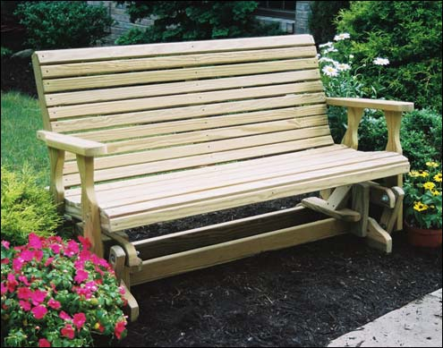 Treated Pine Rollback Glider & Porch Gliders | Wood Patio Chairs | Fifthroom.com