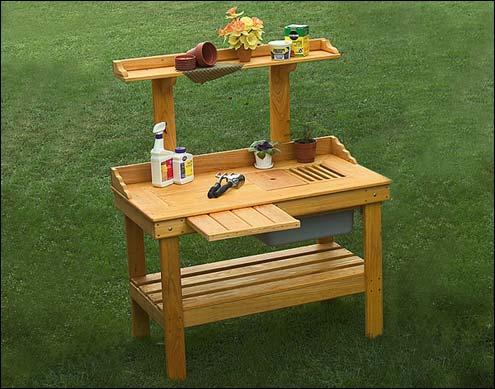 Cypress Potting Bench