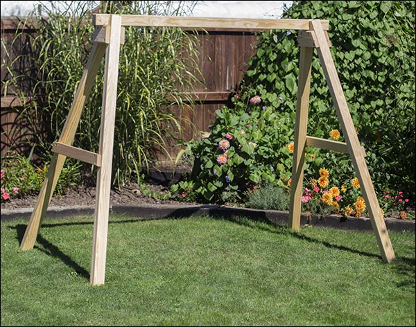 4 x 4 Post Treated Pine Swing Stand for 4' or 5' Swing