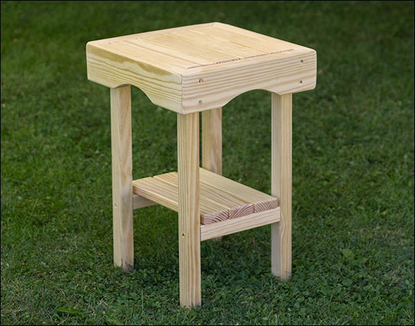 """14"""" x 14"""" Treated Pine Square End Table"""
