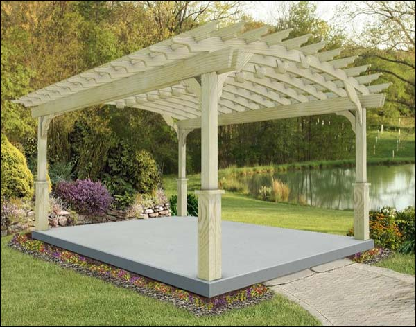 12' x 16' Treated Pine Arched Garden Pergola