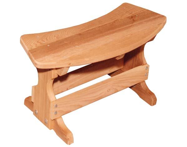 "31"" Red Cedar Curved Bench"