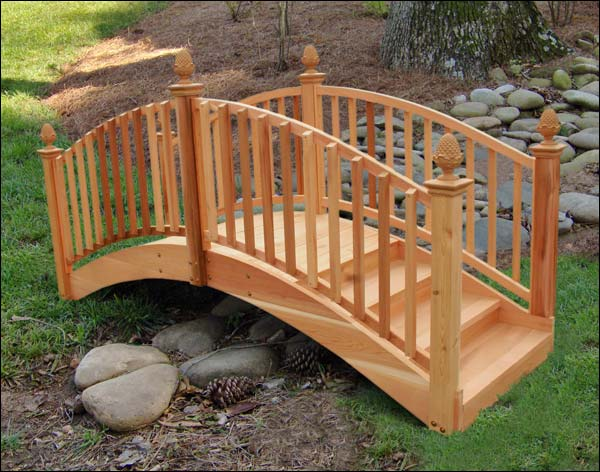 8 39 Red Cedar Arched Step Bridge