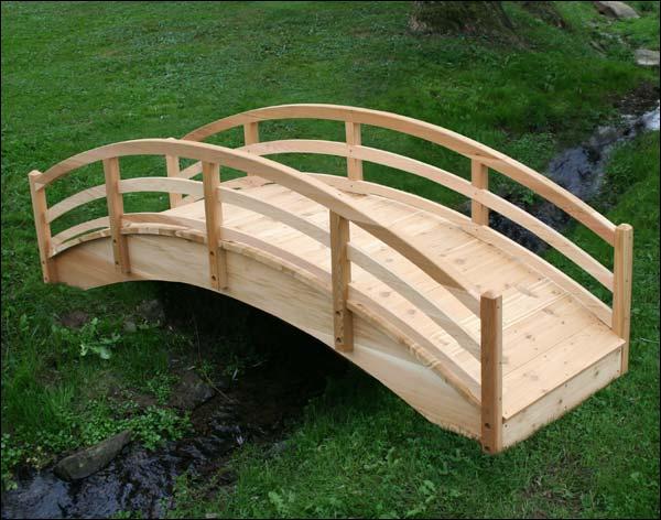 10' Red Cedar Traditional Arched Bridge