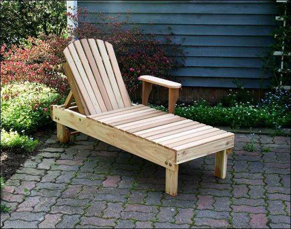 Red Cedar Keystone Chaise Lounge