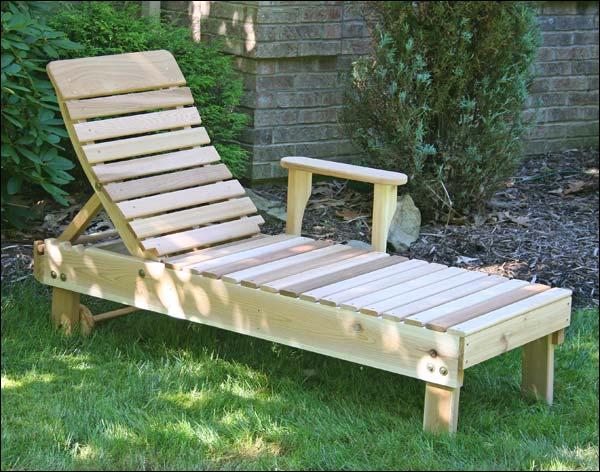 Red Cedar Highback Chaise Lounge