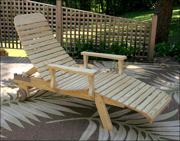 Treated Pine Chaise Lounge w/Arms