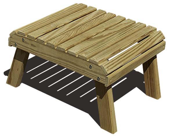 Treated Pine Footstool
