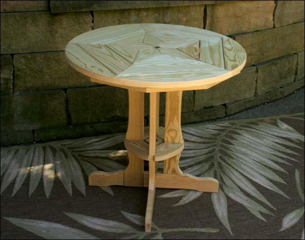 Treated Pine Star Design Pub Table