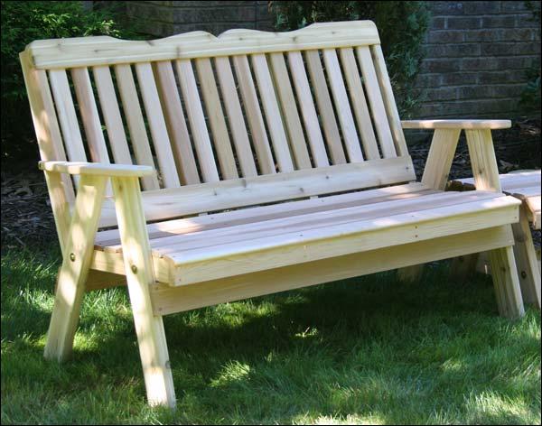 2' Red Cedar Southern English Garden Bench