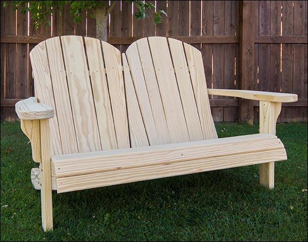 "53"" Treated Pine Curveback Garden Bench"