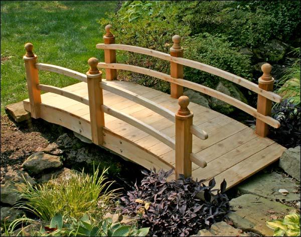 10' Red Cedar Camelot Double Rail Bridge